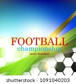football abstract background.... | Shutterstock .eps vector #1091040203
