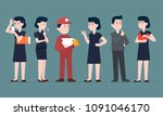 vector illustration group set... | Shutterstock .eps vector #1091046170