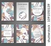 minimal vector covers set....   Shutterstock .eps vector #1091050139