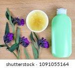comfrey cream with fresh... | Shutterstock . vector #1091055164