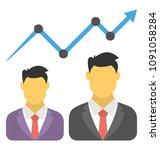 flat icon design of career...   Shutterstock .eps vector #1091058284