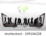 people communicate by telephone. | Shutterstock . vector #109106228