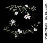 magnolia embroidery   vector ...   Shutterstock .eps vector #1091072336