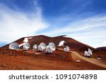 observatories on top of mauna... | Shutterstock . vector #1091074898