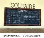 blackboard showing the rainfall ... | Shutterstock . vector #1091078096