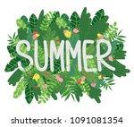 vector cartoon style background ... | Shutterstock .eps vector #1091081354