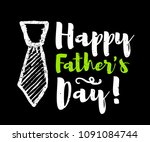 happy father's day lettering... | Shutterstock . vector #1091084744