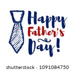 happy father's day lettering... | Shutterstock .eps vector #1091084750
