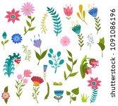 set vector colorful... | Shutterstock .eps vector #1091086196