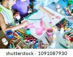group  of unrecognizable... | Shutterstock . vector #1091087930