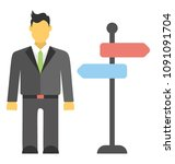 a person standing with... | Shutterstock .eps vector #1091091704
