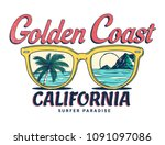 california vector illustration  ... | Shutterstock .eps vector #1091097086
