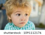 fright  fear  the child was... | Shutterstock . vector #1091112176
