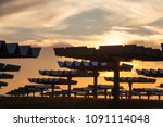 a field of photovoltaic solar... | Shutterstock . vector #1091114048