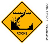 Warning Sign Rocks On The Beac...