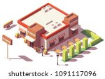 vector isometric low poly fast... | Shutterstock .eps vector #1091117096