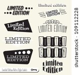 vector set  limited edition... | Shutterstock .eps vector #109112228