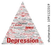 vector conceptual depression or ... | Shutterstock .eps vector #1091122319