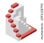 vector cube shape evoking the... | Shutterstock .eps vector #1091128793