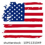 flag of united states in grunge ... | Shutterstock .eps vector #1091131049