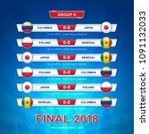 soccer 2018 championship... | Shutterstock .eps vector #1091132033