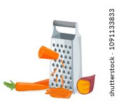 grater with carrot and sweet... | Shutterstock .eps vector #1091133833