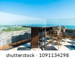 outdoor patio decoration with... | Shutterstock . vector #1091134298