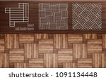 laminate square with double... | Shutterstock .eps vector #1091134448