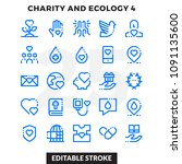 dashed outline icons pack for... | Shutterstock .eps vector #1091135600
