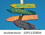 signpost with signs for... | Shutterstock . vector #1091135804