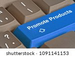 hot key for product promotion | Shutterstock . vector #1091141153