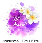 abstract travel background with ... | Shutterstock . vector #1091144198