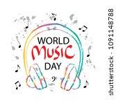 world music day   Shutterstock .eps vector #1091148788