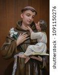 Saint Anthony of Padua with Child Jesus catholic saint statue
