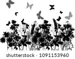 illustration with group of... | Shutterstock .eps vector #1091153960