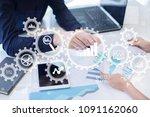 big data analytics. bi business ... | Shutterstock . vector #1091162060
