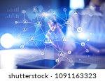 human resource management  hr ... | Shutterstock . vector #1091163323