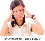 Woman shocked - stock photo
