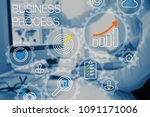 business process management and ... | Shutterstock . vector #1091171006