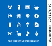 modern  simple vector icon set... | Shutterstock .eps vector #1091176460