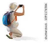 Female  Girl  Or Woman Tourist...