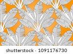 palm pattern. vector seamless... | Shutterstock .eps vector #1091176730