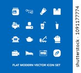 modern  simple vector icon set... | Shutterstock .eps vector #1091177774
