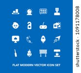 modern  simple vector icon set... | Shutterstock .eps vector #1091178008