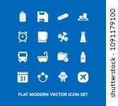 modern  simple vector icon set... | Shutterstock .eps vector #1091179100