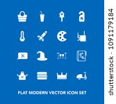 modern  simple vector icon set... | Shutterstock .eps vector #1091179184