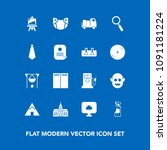 modern  simple vector icon set... | Shutterstock .eps vector #1091181224