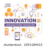 innovation color concept on... | Shutterstock .eps vector #1091184413