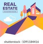 vector creative abstract... | Shutterstock .eps vector #1091184416