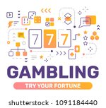 gambling color concept on white ... | Shutterstock .eps vector #1091184440